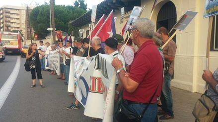 Demostración por Los Cinco en Cataluña. Foto: Cubainformación