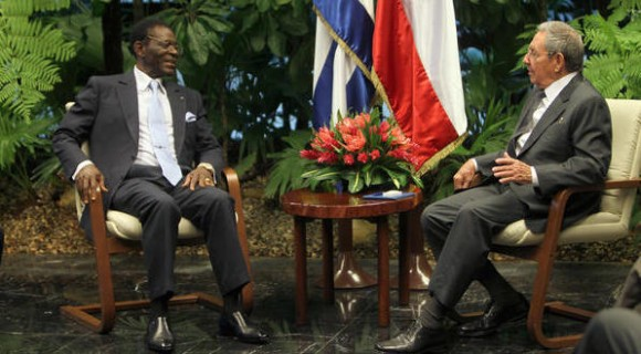 CUBA-LA HABANA-SOSTIENEN CONVERSACIONES OFICIALES RAÚL Y PRESIDENTE DE GUINEA ECUATORIAL