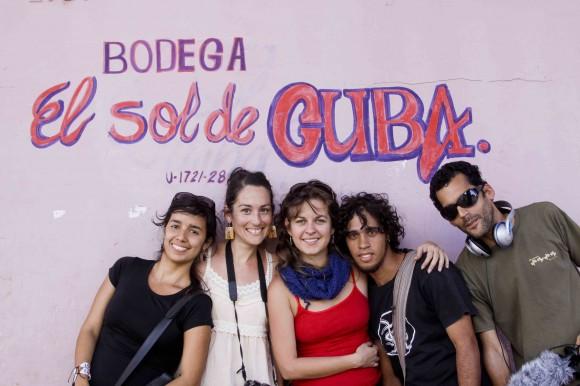 El equipo de realización de la película. Foto: Alejandro Ramírez Anderson.
