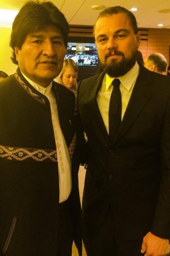El presidente de Bolivia, Evo Morales y el reconocido actor, Leonardo DiCaprio, se retrataron juntos para recordar un compromiso en común: la defensa del medio ambiente.