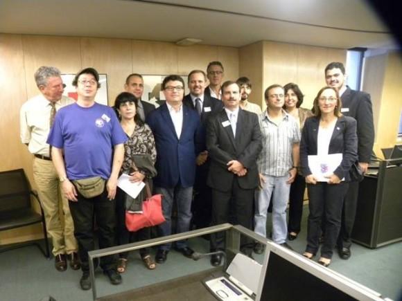 Fernando con Diputados españoles. Foto: EMBACUBA España / Cubadebate