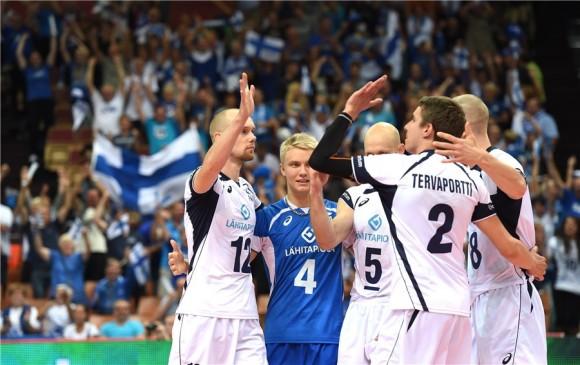 El equipo finlandés levantó un juego prácticamente perdido. Foto: Sitio FIVB