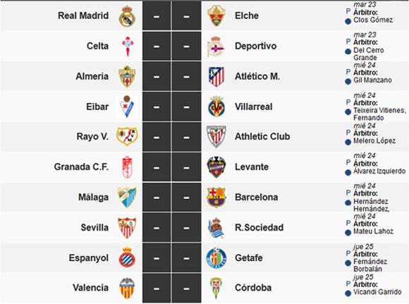 Jornada 5 de la Liga Española.
