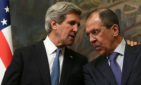 John Kerry y Serguei Lavrov. Foto tomada de The Guardian