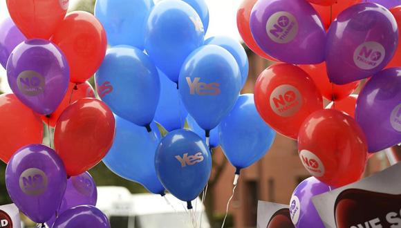 Los escoceses manifestaron sus opiniones un día antes del referéndum. Foto: Reuters.