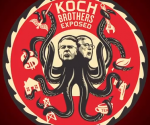 Cartel de documental sobre los hermanos Koch