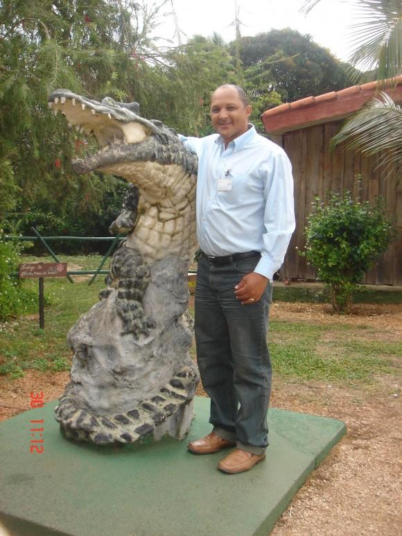 Monumento al cocodrilo.  Foto: Ariel Ramos Hernández, Villa Clara / Cubadebate
