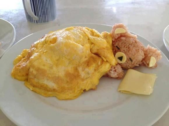 Oso de arroz durmiente