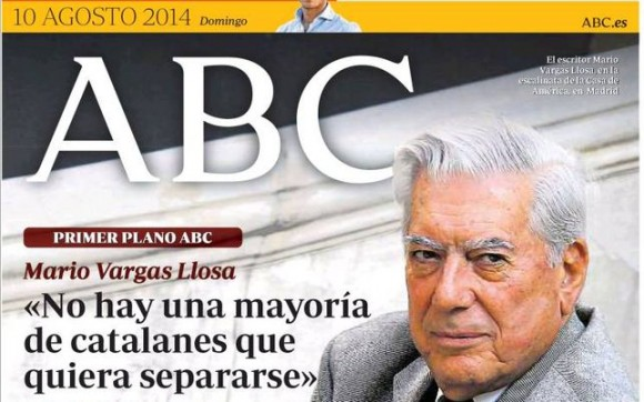 Portada-ABC-Vargas-Llosa-Catalunya_EDIIMA20140902_0255_13