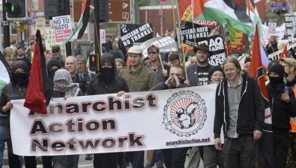 Protestas contra la cumbre de la OTAN en Gales 4