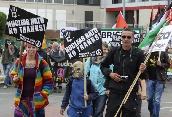 Protestas contra la cumbre de la OTAN en Gales 7