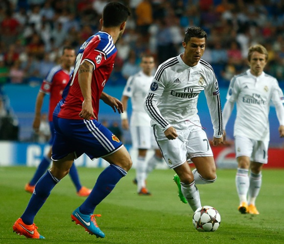 Real Madrid contra Basilea. Foto: EFE.