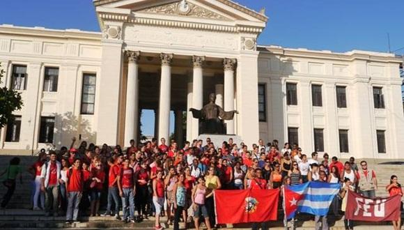 Durante el acto se resaltó la figura del líder histórico de la Revolución Cubana en las luchas estudiantiles, políticas y sociales.