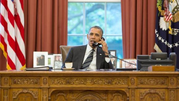 barack obama en la oficina oval