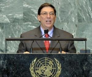 El Canciller cubano Bruno Rodríguez Parrilla en la ONU. Foto Archivo Cubadebate