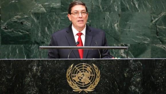 El canciller cubano instó a un cambio en la ONU y a un nuevo orden mundial mas justo y equilibrado. Foto: Reuters.