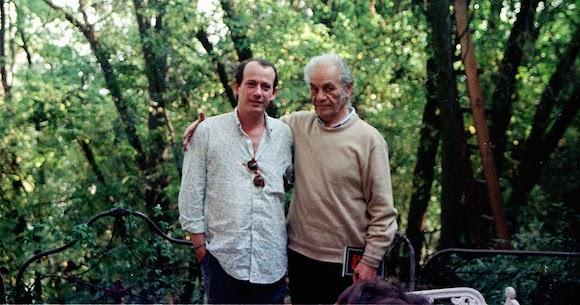 Nicanor Parra con Silvio Rodríguez. Foto: Segunda Cita.
