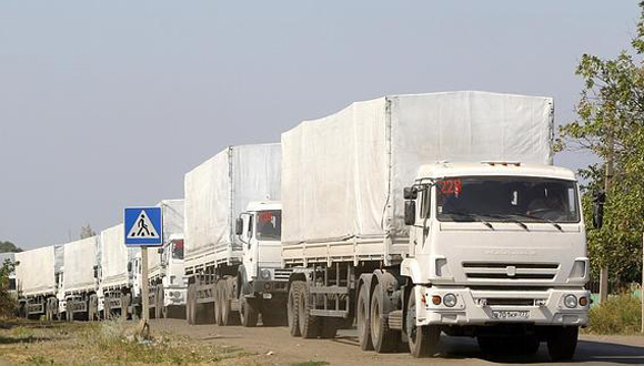 Llega a Ucrania tercer convoy de ayuda humanitaria