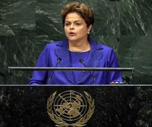 Dilma Rousseff en la ONU. Foto: AP.