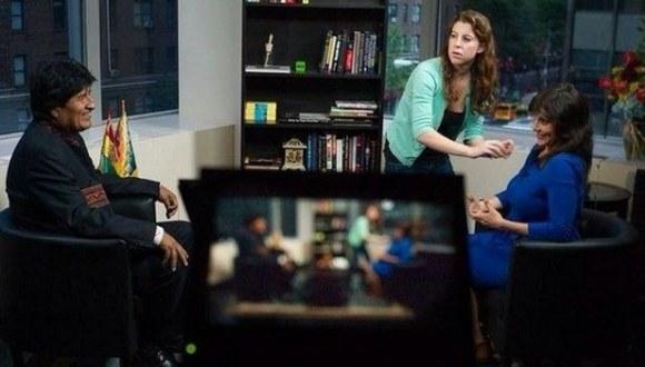 entrevista de Rusia Today a Evo Morales