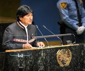 Evo Morales en la ONU. Foto: AP.