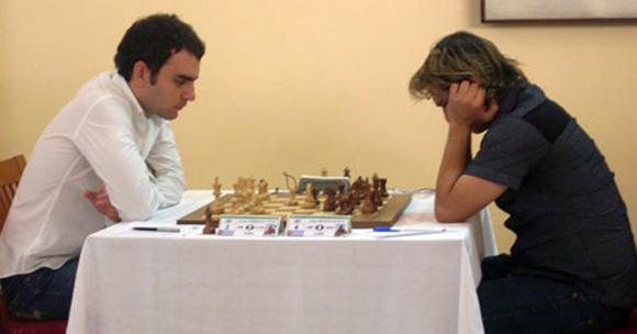 Leinier (izquierda) y Bruzón fueron decisivos en Calviá.