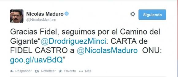 maduro agradece a Fidel