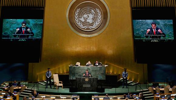 """El presidente de la República, Nicolás Maduro, planteó hoy una """"refundación democrática y profunda"""" de la Organización de Naciones Unidas. Foto: Reuters"""