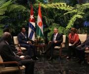 Recibe el presidente cubano Raúl Castro a su homologo de Niger, Mahamadou Issoufou en el Palacio de la Revolución. Foto: Ismael Francisco/Cubadebate.