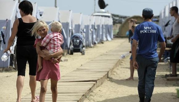 La cifra de desplazados dentro del país se ha duplicado en las últimas tres semanas.