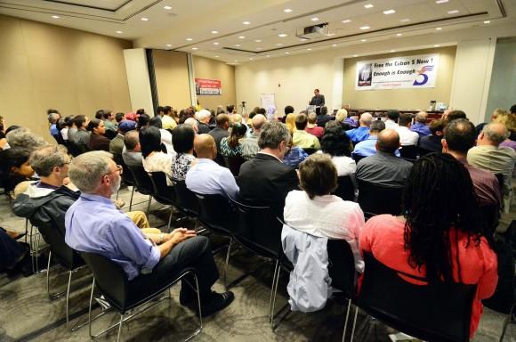Solidaridad con los Cinco en Washington, EEUU. Foto: Bill Hackwell / Cubadebate