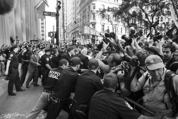 wall street represion