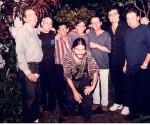 Lázaro, Vicente, Augusto, Noel y Santiago, yo, Amaury y José María