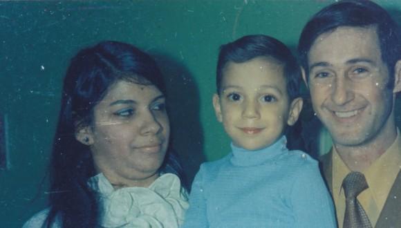 Ada Mendoza Vergara con su esposo