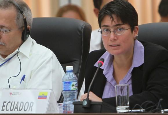 Carina Vance, Ministra de Salud Pública de Ecuador. Foto: Ismael Francisco / Cubadebate.