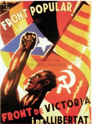 Cartel de apoyo a la República Española por las Brigadas Internacionales durante la Guerra civil