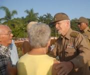 Ceremonia familiar con honores militares en el Mausoleo a los Mártires del Frente Norte de Las Villas 1