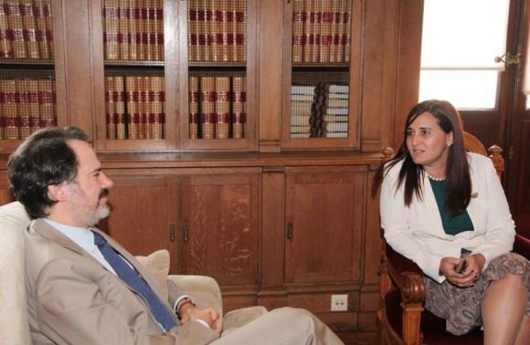 El Presidente de la Comisión de Negocios Extranjeros, Exmo. Sr. Sergio Sousa Pinto, recibió a la Embajadora de Cuba Johana Tablada de la Torre