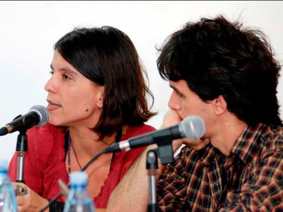 Marta María, autora de TransCuba y Lázaro González, director de Máscaras.