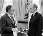 Henry A. Kissinger y Gerald R. Ford en 1976.