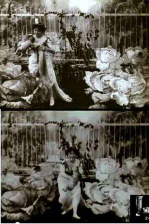 La Feeaux Choux (El hada de los repollos,1896), primera cinta de Alice Guy.