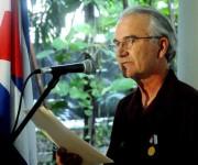 Intervención de William (Bill) Hackwell,  del Comité de Solidaridad con Los Cinco, luego de recibir la Medalla de la Amistad que otorga el Consejo de Estado a propuesta Instituto Cubano de Amistad con los Pueblos (ICAP), en acto realizado en la sede del ICAP, en La Habana, Cuba,  el 2 de octubre de 2014 .   AIN FOTO/Oriol de la Cruz ATENCIO / Cubadebate