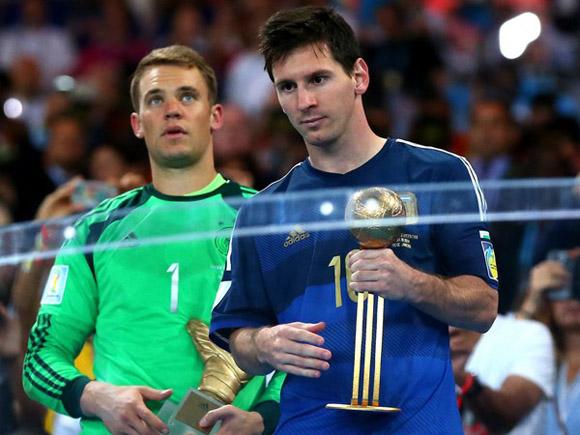 Messi Balón de Oro Brasil 2014