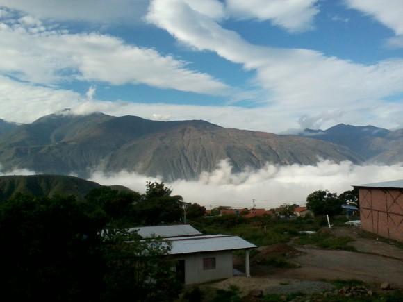 Nubes y montañas en Lagunillas, Mérida, Venezuela. Foto:  Dolennis Concepción Hidalgo / Cubadebate
