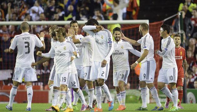 Real Madrid conquistó Anfield con un 3-0 categórico  dce9184087274
