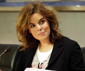 La vicepresidenta española Soraya Sáenz de Santamaría