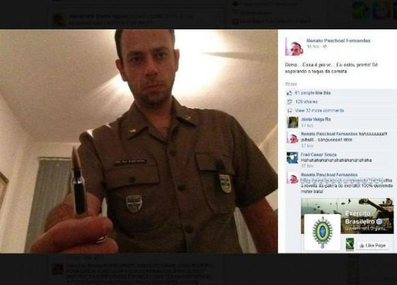 Renato Pascoal Fernandes emitió amenazas contra la vida del presidente Dilma en su página de Facebook.