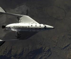 Una nave de Virgin Galactic. Foto tomada de La Tercera