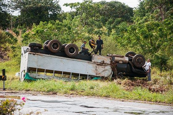Accidente masivo en el municipio Los Palacios. Foto: Carlos Bauta/ Periódico Guerrillero, de Pinar del Río.
