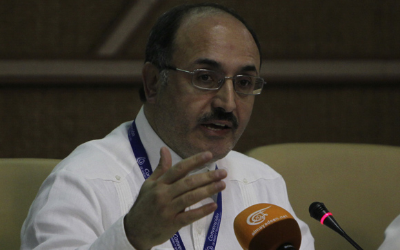 Ghassan Ben Jeddou, director general del canal panárabe Al Mayadeen. Foto: Ladyrene Pérez/ Cubadebate.